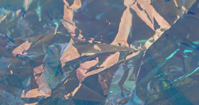 Colorful wrinkled foil