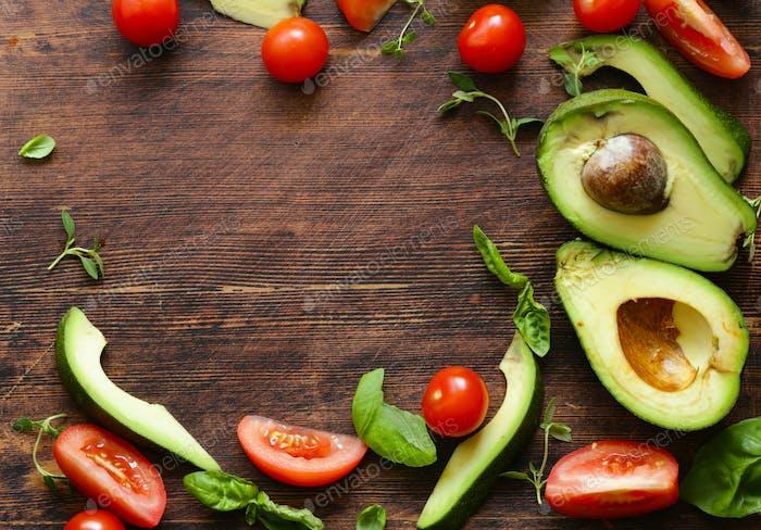 Lebensmittel Hintergrund Avocado