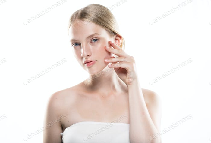 Skin care woman healthy beauty skin portrait