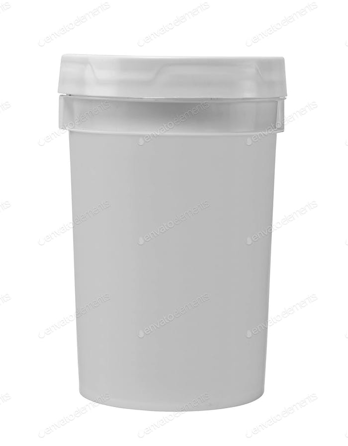 blank white tub paint plastic bucket