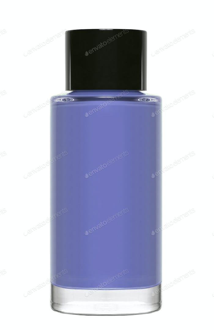 blue nail polish isolated on white background