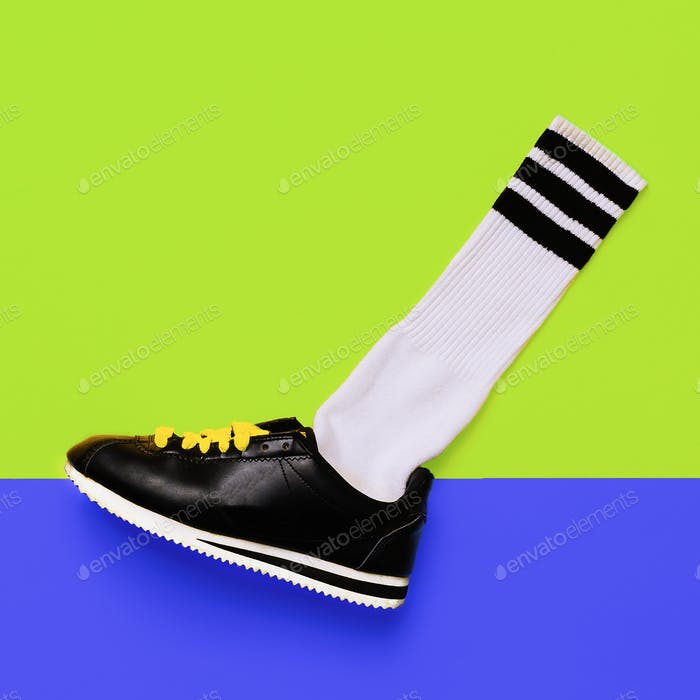 Fashion Training Sneakers. Art minimal style design
