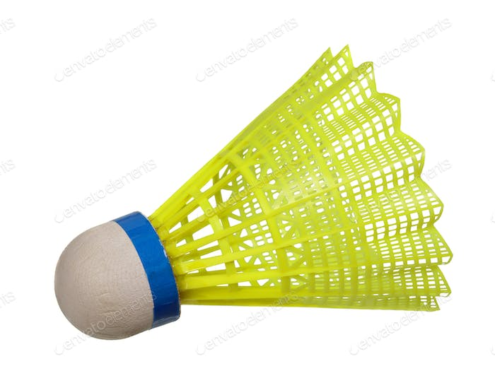 Yellow badminton shuttlecock