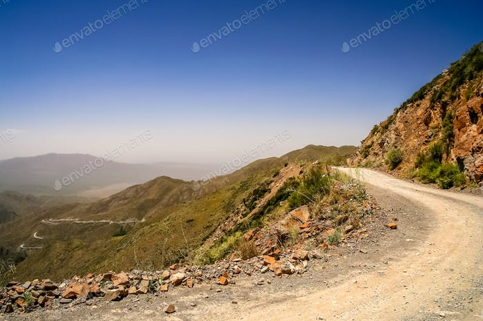 Mountain Road from Termas Villevicencio in Argentina
