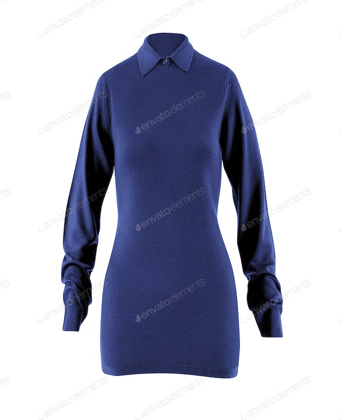Women's blouse with long sleeves isolated