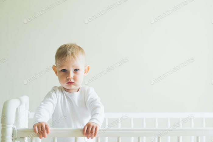 child in the crib