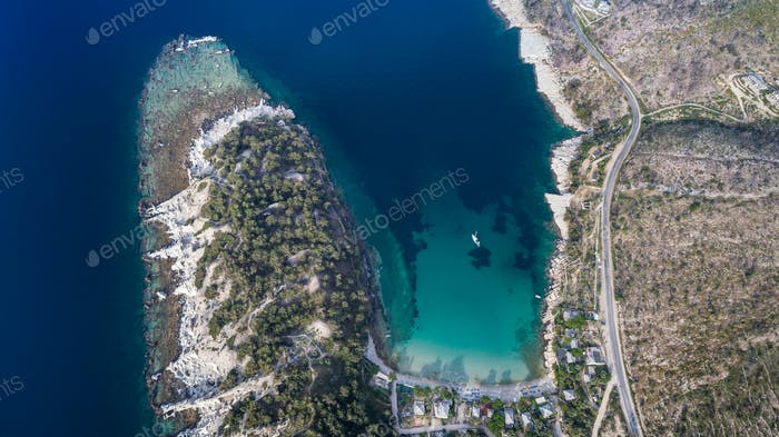 Aliki village. Thassos island, Greece