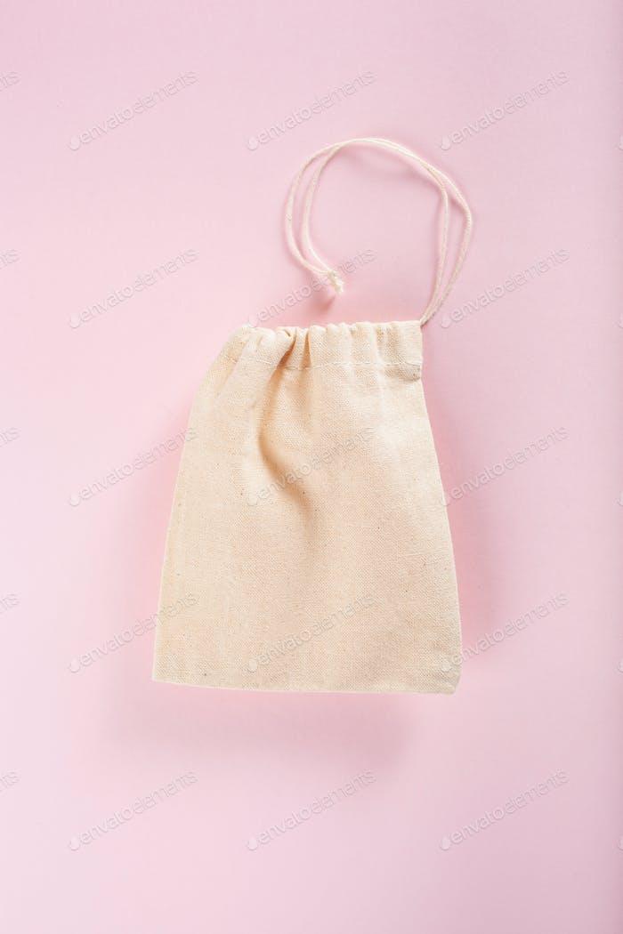 reusable cotton tea bag, eco zero waste concept