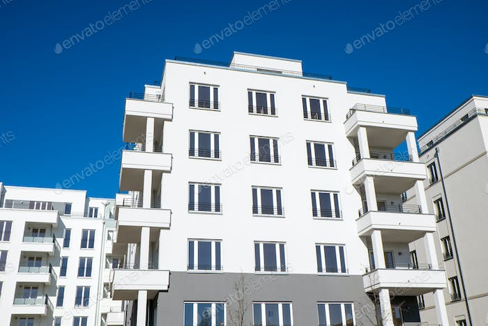 White apartment houses in Berlin