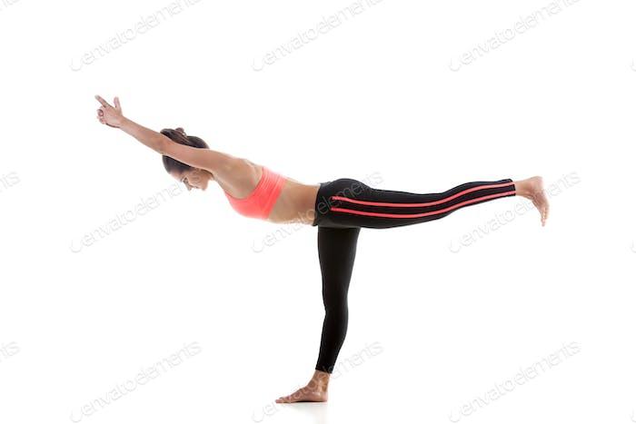 Yoga Pose virabhadrasana 3
