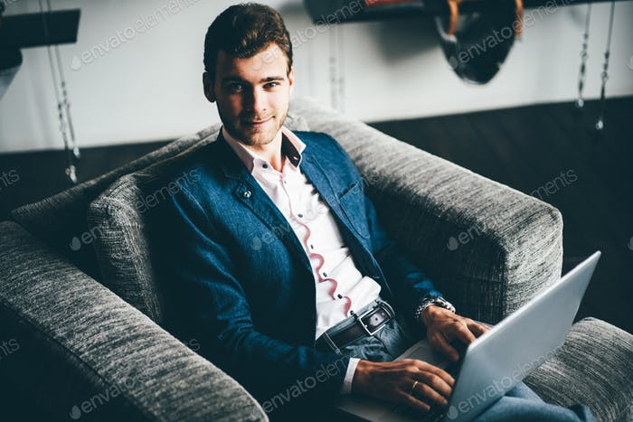 Business man working at office