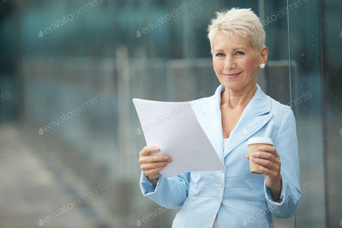 Businesswoman with business contract