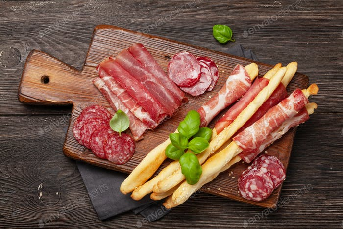 Meat, salami and prosciutto antipasto