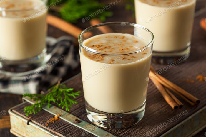 Cold Refreshing Eggnog Drink
