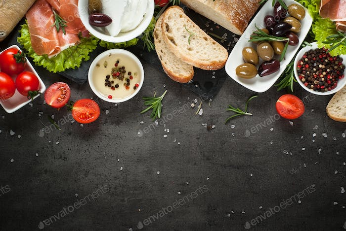 Mediterranean Food background.