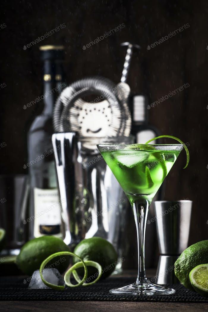 Grüner alkoholischer Cocktail