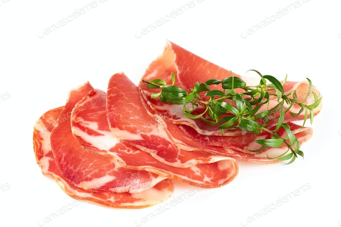 Thinly sliced ??ham