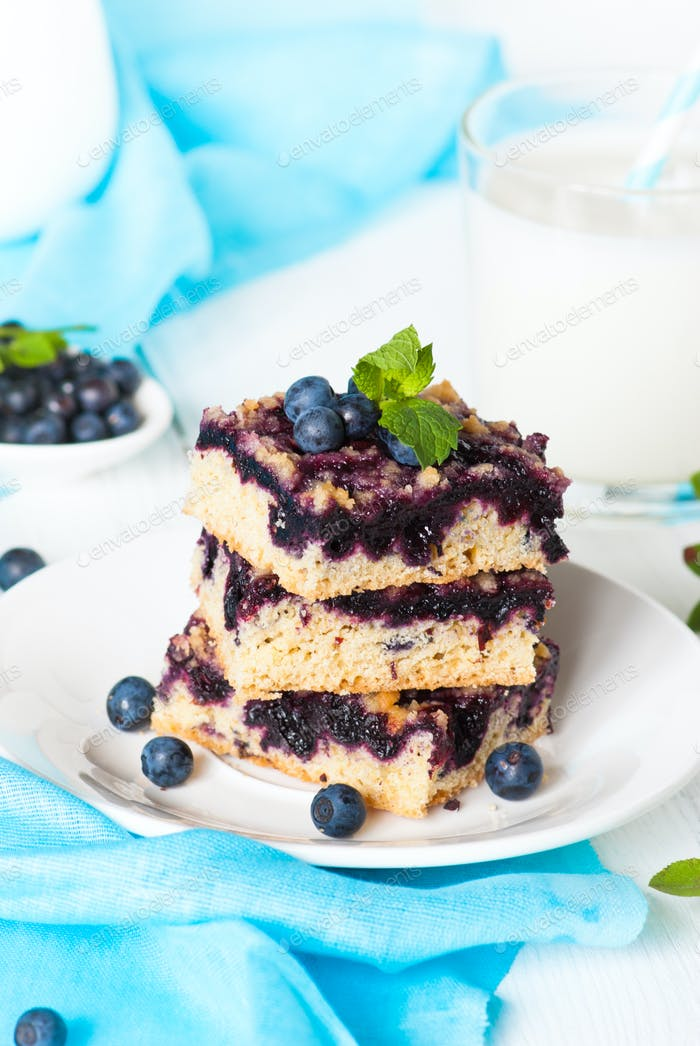 Blueberry Crumble Kuchen