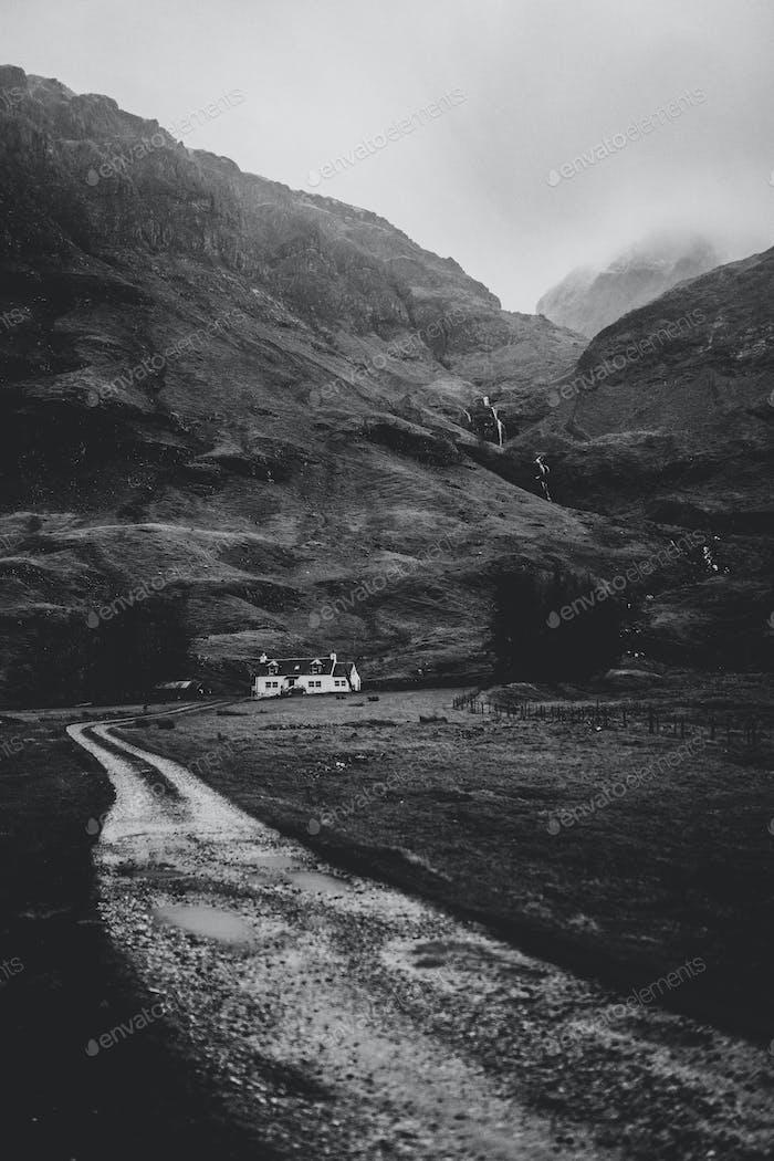 House blanca en Glen Etive