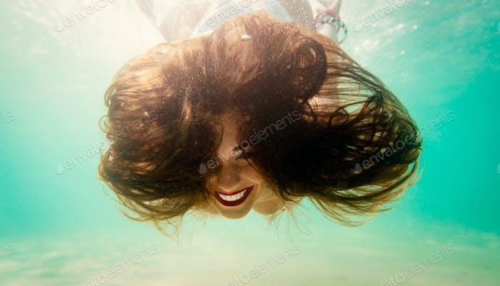 Crazy Girl Snorkeling