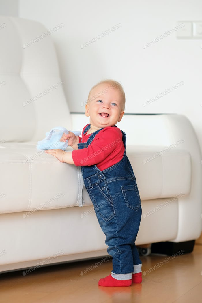 Baby boy standing