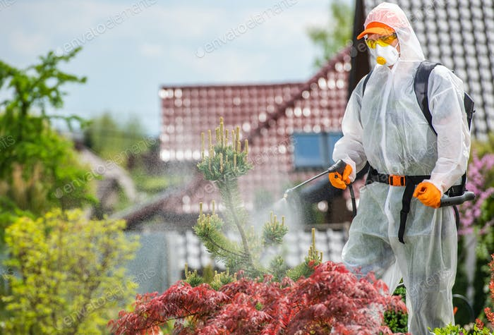 Garden Worker Insecticide and Fungicide Plants