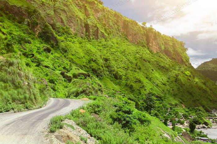 asphalt road in Nepal