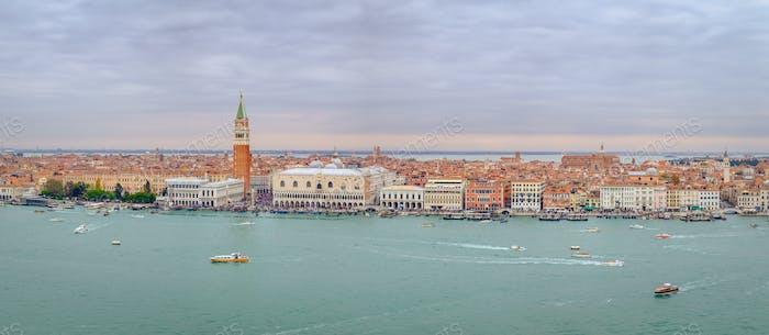 Panoramablick auf die Lagune von Venedig, Italien