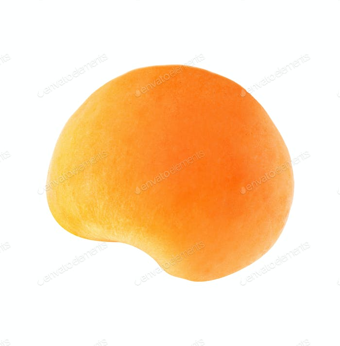 part of the fruits of apricot isolated on white background