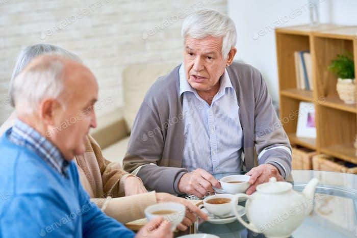 Senior People in Retirement Home