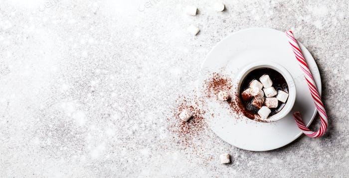 Heiße Schokolade Weihnachtsgetränk