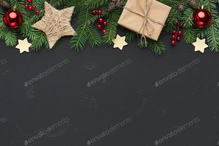 Christmas or New Year holiday creative background