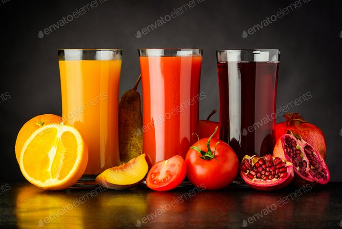 Fresh Fruit Juice Drink in Glass