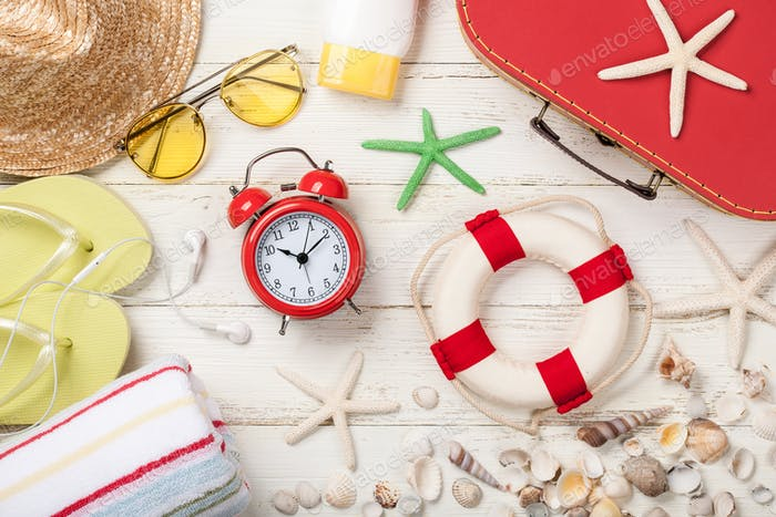 Summer vacation and travel background