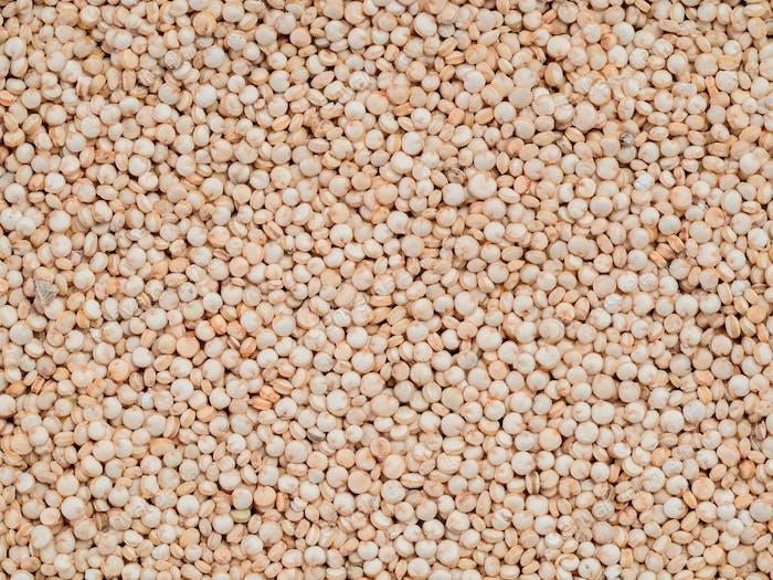 Uncooked raw quinoa background