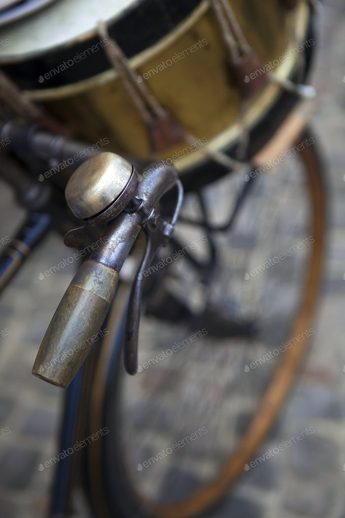 Fahrrad und Trommel