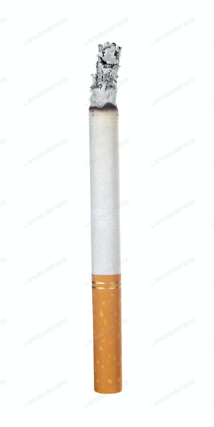 Quema de cigarrillo en blanco
