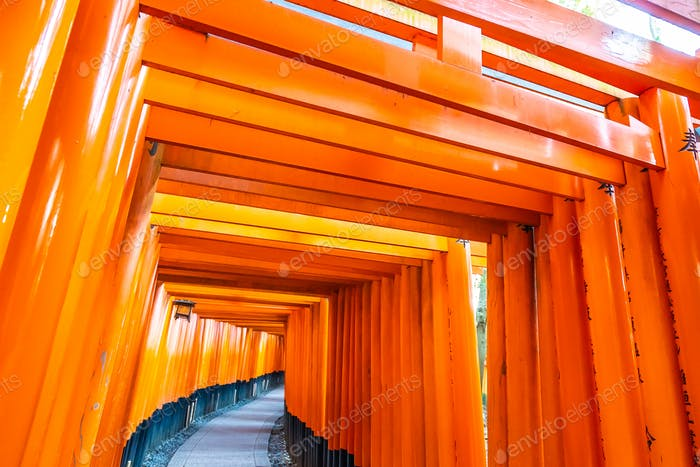 Beautiful fushimi inari shrine temple in Kyoto