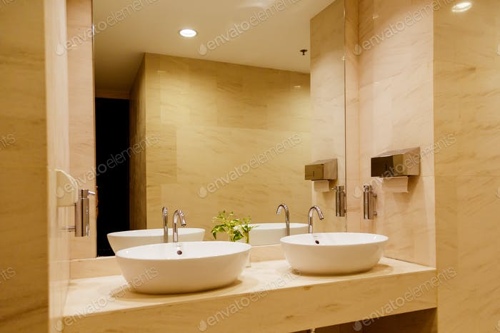 Stylish double bathroom