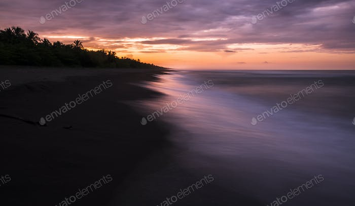 Costa Rican Beach at Sunset