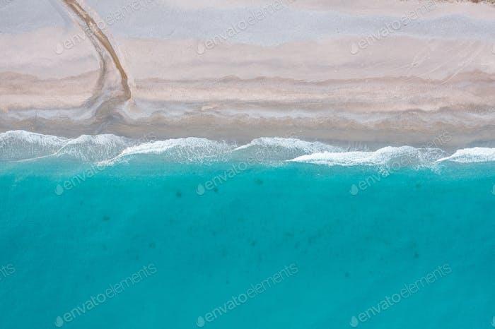 Aerial view of desert beach