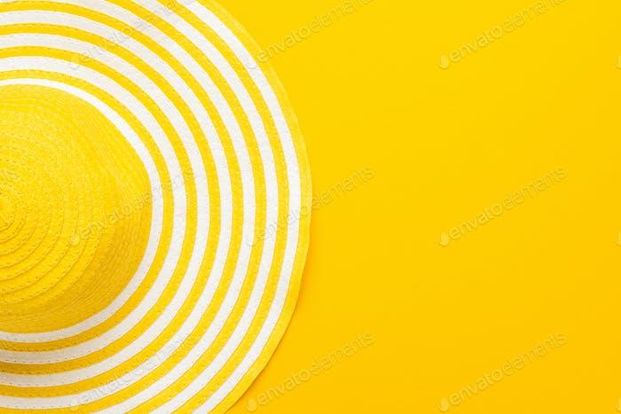 Ansicht von oben von Gelber Hut