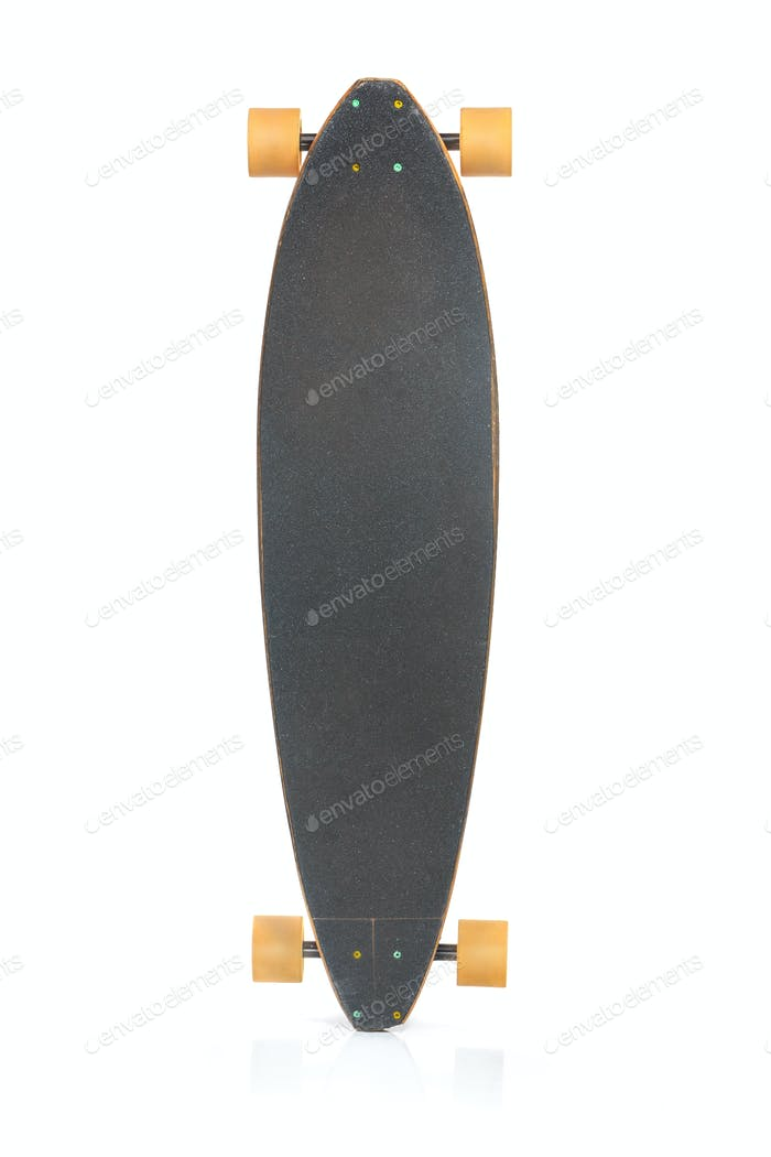 The skateboard on a white background