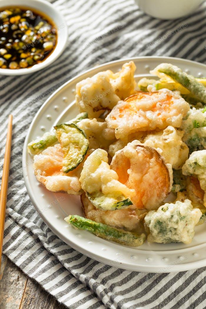 Homemade Japanese Vegetable Tempura