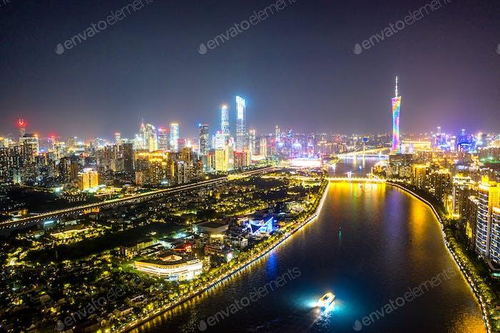 Luftbild von Guangzhou