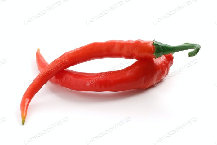 two red chili peppers