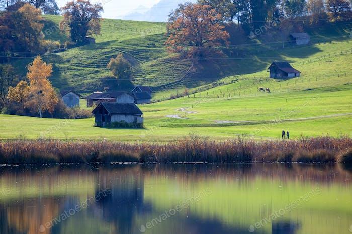 autumn scenery in Bavaria Germany