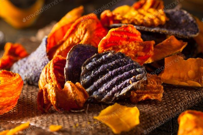 Gesunde Bio-Gemüse-Chips