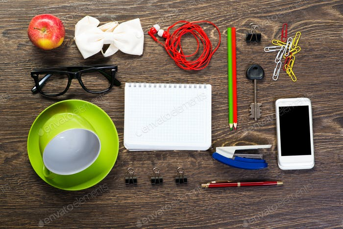 items laid on the table, still life