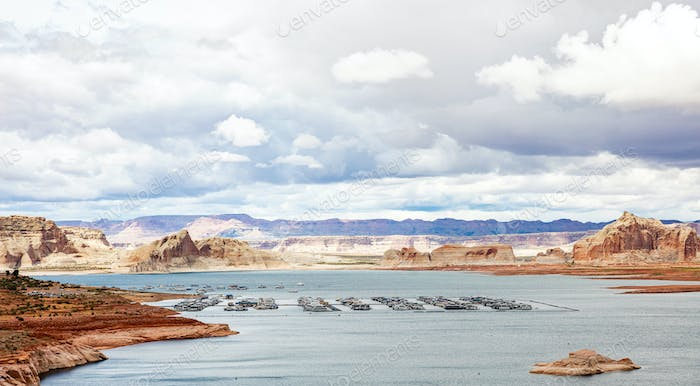Cloudscape over Lake Powell Arizona and Utah USA